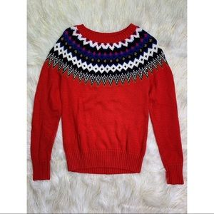 Old Navy - Red Heavy Sweater with Holiday Print